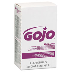 GOJO® NXT Deluxe Lotion Soap with Moisturizers, Floral, Pink, 2000 mL Refill, 4/Carton