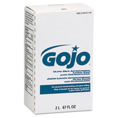 GOJO® Antimicrobial Lotion Soap w/Chloroxylenol, Floral, 2000mL Refill, 4/Carton
