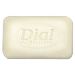 Dial® Antibacterial Deodorant Bar Soap, Unwrapped, White, 2.5oz, 200/Carton