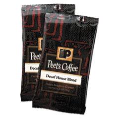 Peet's Coffee & Tea® Coffee Portion Packs, House Blend, Decaf, 2.5 oz Frack Pack, 18/Box
