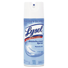 LYSOL® Brand Disinfectant Spray, Crisp Linen Scent, Liquid, 12.5oz Aerosol, 12/Carton