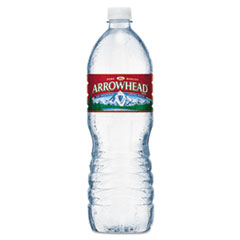 Arrowhead® Natural Spring Water, 1 Liter Bottle, 15 Bottles/Carton