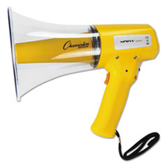 Megaphone, 8-12W, 800 Yard Range, White/Yellow