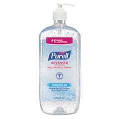PURELL® Advanced Refreshing Gel Hand Sanitizer, Clean Scent, 1 L, 4/Carton
