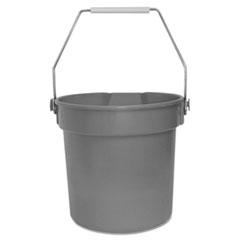 Impact® Deluxe Heavy-Duty Bucket, Gray, Polypropylene, 10qt, 10 5/8dia x 10 1/4h
