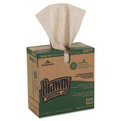 Georgia Pacific® Professional Brawny Industrial Med Duty Premium DRC Wipers, 12 2/10x9 1/4, 120/BX, 10/CT