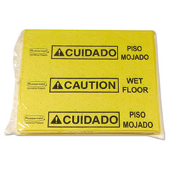 Rubbermaid® Commercial Over-The-Spill Pad Tablet w/25 Pads, Yellow/Black,14 x 16 1/2