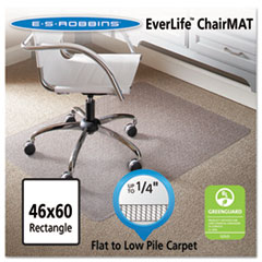 ES Robbins® 46 x 60 Rectangle Chair Mat, Task Series AnchorBar for Carpet up to 1/4""