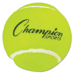 "Champion Sports Tennis Balls, 2 1/2"" Diameter, Rubber, Yellow, 3/Pack"