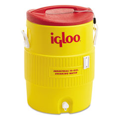 Igloo® Industrial Water Cooler, 10 gal, Yellow/Red