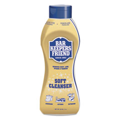 Bar Keepers Friend® Soft Cleanser, 26 oz Squeeze Bottle, Citrus, 6/Carton