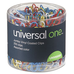 Universal® Deluxe Vinyl-Coated Wire Paper Clips Thumbnail