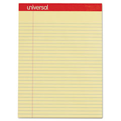 Perforated Writing Pads, Wide/Legal Rule, 8.5 x 11.75, Canary, 50 Sheets, Dozen