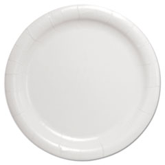 "Dart® Bare Eco-Forward Clay-Coated Paper Dinnerware, Plate, 9"" Diameter, White"