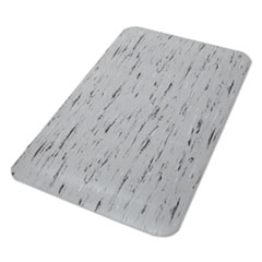 Crown Cushion-Step Surface Mat, 24 x 36, Spiffy Vinyl, Gray