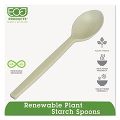 """Eco-Products® Plant Starch Spoon - 7"""", 50/PK"""