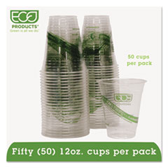 Eco-Products® GreenStripe Renewable & Compostable Cold Cups Convenience Pack- 12oz., 50/PK