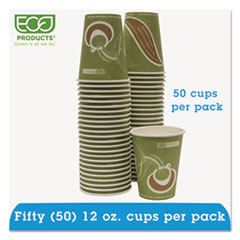 Eco-Products® Evolution World 24% Recycled Content Hot Cups Convenience Pack - 12oz., 50/PK