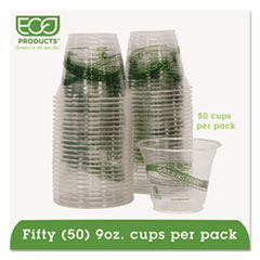 Eco-Products® GreenStripe Renewable & Compostable Cold Cups Convenience Pack- 9oz., 50/PK