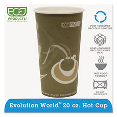 Eco-Products® Evolution World 24% Recycled Content Hot Cups - 20oz., 50/PK, 20 PK/CT