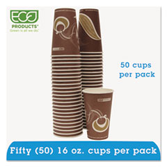 Eco-Products® Evolution World 24% Recycled Content Hot Cups Convenience Pack - 16oz., 50/PK