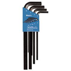 Eklind® Nine-Piece Metric L-Wrench Hex Key Set, Long-Arm