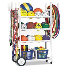 Champion Sports All-Terrain Heavy-Duty Cart, 24w x 52d x 59h, White