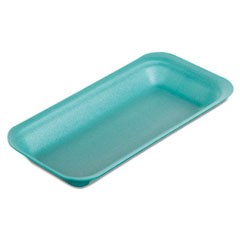 Genpak® Supermarket Trays, 8.38 x 0.88 x 3.38, Green, 500/Carton