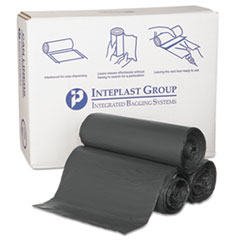 "Inteplast Group High-Density Commercial Can Liners, 55 gal, 0.87 mil, 36"" x 60"", Black, 150/Carton"