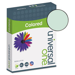 Universal® Deluxe Colored Paper, 20lb, 8.5 x 11, Green, 500/Ream