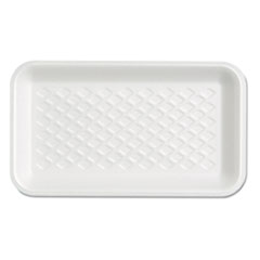 Genpak® Supermarket Tray, Available West of the Rockies Only, 4.75 x 8.25 x 0.63, White, 125/Bag, 4 Bags/Carton