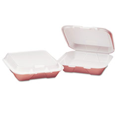Genpak® Snap It Hinged-Lid Foam Food Container, 7.63 x 8.44 x 2.38, White, 100/Bag, 2 Bags/Carton