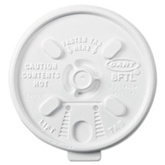 Dart® Lift n' Lock Plastic Hot Cup Lids