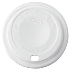 Dart® Cappuccino Dome Sipper Lids, 8-10oz Cups, White, 1000/Carton