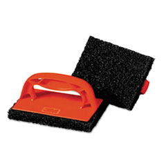 Scotch-Brite™ PROFESSIONAL Scotchbrick Griddle Scrubber, 4 x 6 x 3, Red/Brown, 4 per Pack