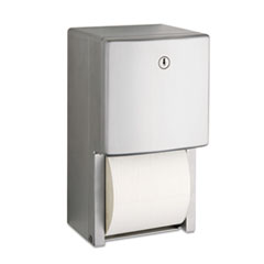 "Bobrick ConturaSeries Two-Roll Tissue Dispenser, 6 1/16"" x 5 15/16"" x 11"""