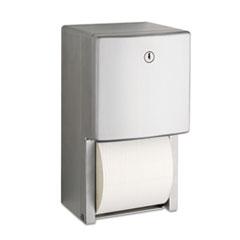 "Bobrick ConturaSeries Two-Roll Tissue Dispenser, 6 1/16"" x 5 15/16"" x 11"" BOB4288"