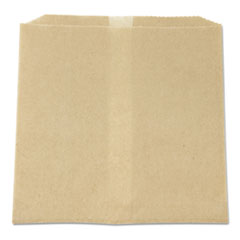 "HOSPECO® Waxed Napkin Receptacle Liners, 8.5"" x 8"", Brown, 500/Carton"