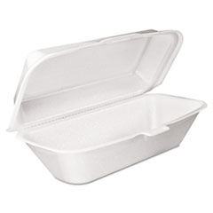 Foam Hoagie Container With Removable Lid,
