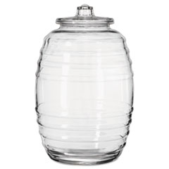 Libbey Glass Barrel with Lid, 20 Liters, Clear