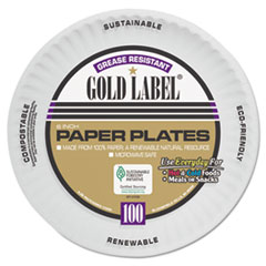 "Coated Paper Plates, 6"" dia, White, 100/Pack, 12 Packs/Carton"