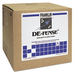 Franklin Cleaning Technology® DE-FENSE Non-Buff Floor Finish, Liquid, 5 gal Dispenser Box