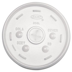 Dart® Cold Cup Lids, 32oz Cups, Translucent, 100/Sleeve, 10 Sleeves/Carton