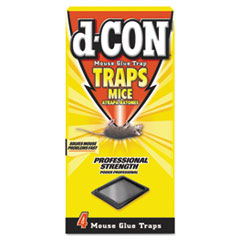 d-CON® Mouse Glue Trap, Plastic, 4 Traps/Box, 12 Boxes/Carton