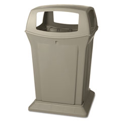 Rubbermaid® Commercial Ranger Fire-Safe Container, Square, Structural Foam, 45 gal, Beige