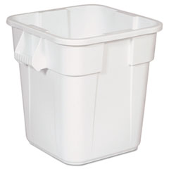 Rubbermaid® Commercial Brute Square Containers, 28 gal, White