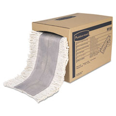 Rubbermaid® Commercial Cut To Length Dust Mops, Cotton, White, Cut-End, 5 x 40 Ft, 1 Box