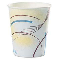 Dart® Paper Water Cups, 5 oz., Cold, Meridian Design, Multicolored, 100/Sleeve, 25 Sleeves/Carton
