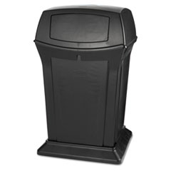 Rubbermaid® Commercial Ranger Fire-Safe Container, Square, Structural Foam, 45 gal, Black