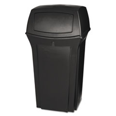 Rubbermaid® Commercial Ranger Fire-Safe Container, Square, Structural Foam, 35 gal, Brown